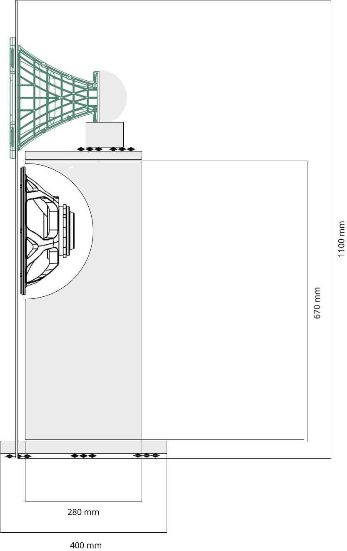 Open baffle loudspeaker scheme